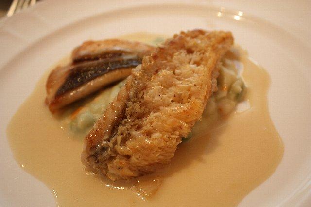 ル・クープル - 「柏市場の鮮魚の盛り合わせ 本日のソースで」甘鯛とスズキ
