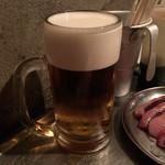 焼ジビエ 罠 神田 - 生ビール