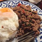 チャオタイ - ガパオラーカオ+目玉焼き
