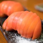 新宿うな鐵 - 2016.8 冷やしトマト(500円)