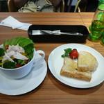 自家焙煎珈琲 ICHI no KURA coffee&soft cream - サラダセット