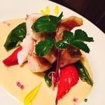 桜響 - 鮮魚の雲丹クリームソース