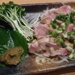 串焼きだるま - 鶏タタキ