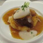 ビストロ ダイア - [ランチ]愛知県半田産豚肩ロース肉の煮込み アイヌネギ風味 ジャガイモとカブのビューレ