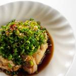 大人の鉄板 Basaro - 大人気の「鶏ねぎポン酢」