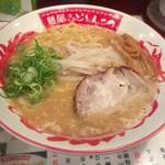 麺屋どとんこつ - 2016年08月20日  半チャーハンセット 780円、ラーメン(バリかた)大盛り無料