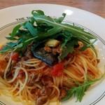 55008975 - パスタランチBの仔羊肩挽肉のトマトラグーとナスのスパゲッティ
