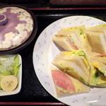 アラビゴコーヒー - サンドセット(540円)