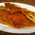 俺のイタリアン - ワタリ蟹のトマトクリームパスタ