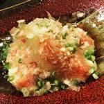 小料理なり田 - 料理写真:無花果の揚出し 斬新な料理