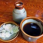 そば処 水無湧水庵 - 蕎麦ツユ & 薬味(2016年8月)