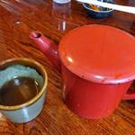 そば処 水無湧水庵 - 蕎麦湯(2016年8月)