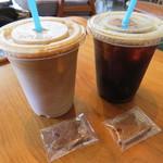 ツバメコーヒー - アイスラテ、アイスコーヒー