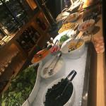 55027109 - ランチ利用|お野菜ブッフェ台(手前から)                       初訪問|2016/08/20(土)訪問