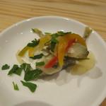 falo - おばんざい:インゲンのくたくた煮、カポナータ、かぼちゃのマリネ、小鯵のエスカベッシュ、豚のリエット5