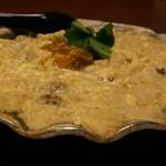 壱乃助 - でっかい貝焼き味噌と塩うにトッピング♪