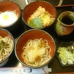 お多福 - とろろ、天ぷら、山菜、なめこおろしのお福蕎麦