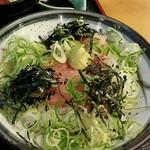 麺坊はりまや - 料理写真:ネギトロ丼