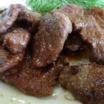 塩の里 - 鹿肉の焼肉定食(鹿肉アップ)