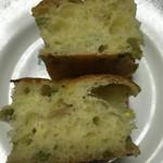 ラ・テールビオ - 枝豆と生姜のフォカッチャ 断面
