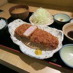 とんかつ平野 - 料理写真:四万十豚・厚切りロースかつ膳1650円
