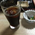 そば処 風 - サービスのアイスコーヒ