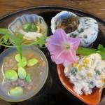 へら亭 - 料理写真:前菜4種盛り