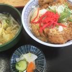 おべんとうのヒライ - 料理写真:カツ丼うどんセット
