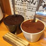 スタミナ鉄板焼肉 博多鉄壱 - 鉄板焼肉に入れる辛味噌‼️