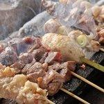 串焼きろばた えにし - 備長炭で焼いてます!新鮮食材と香り豊かな備長炭が命