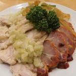 鳳琴樓 - 三色前菜の盛り合わせ
