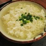 とうふの比嘉 - 「ゆし豆腐セット(小)」のゆし       豆腐