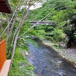 割烹旅館 湯の花荘 - 離れの客室『武蔵』からの眺め(2016年8月)