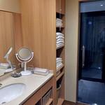割烹旅館 湯の花荘 - 離れの客室『武蔵』の洗面所(2016年8月)