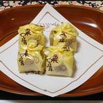 割烹旅館 湯の花荘 - 客室に用意された茶菓子(2016年8月)