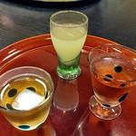 割烹旅館 湯の花荘 - 夕食(果実酒お試しセット)(2016年8月)