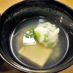 割烹旅館 湯の花荘 - 夕食(枝豆真丈 生姜仕立)(2016年8月)