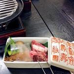 割烹旅館 湯の花荘 - 夕食(日光高原牛直火焼)(2016年8月)