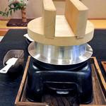 割烹旅館 湯の花荘 - 朝食(釜炊きご飯)(2016年8月)