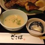 55046123 - 市場の焼魚定食とろろ