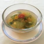 アクア オリビン - 夏野菜の冷製スープ