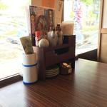 おはし処 源ぺい - 店内半個室窓際席♫       暑い(T_T)