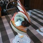 カフェレストさんとす - 料理写真:小倉パフェ