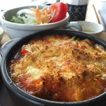 Cafe福 - 地元で採れた夏野菜がたっぷり入ったグラタ♪