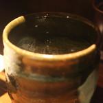 くら 料理酒処 - 麦焼酎水割り