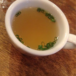 串焼き。ビストロガブリ - 〆出汁スープ(サービス)