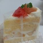 55058687 - 桃のショートケーキ/平成28年8月