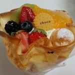 55058710 - フルーツたっぷりのクレープケーキ/平成28年8月