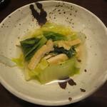 京とんちん亭 - 白菜の煮びたし420円