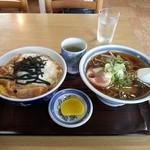 だるま軒 - カツ丼+ミニラーメンセット